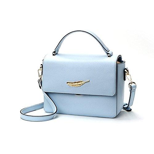 LEODIKA La Mujer Bolsas, bolsos de hombro, bolsos, taleguilla, simple, llano, colorido, Plazoleta bolsa de color rosa. Blue