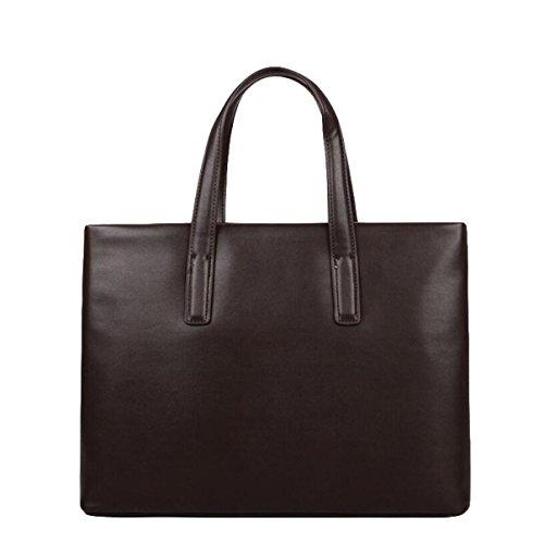 Hombres Ordenador Maletín Negocios Hombro De Bolsa Simple Bag Casual Brown Messenger Moda ZxqZ7gw