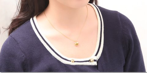 Hello Kitty official necklace Pink Gold New by Hello Kitty (Image #3)