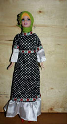 Muslim Doll Clothes Hijab Shoes Girls Eid Gift