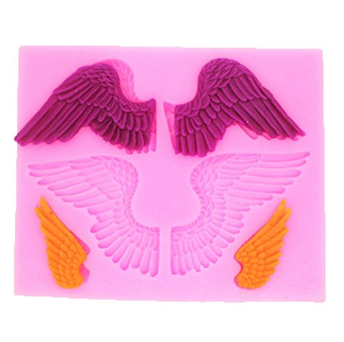Yunko Large Angels Wings Silicone Fondant Candy Chocolate Mold Cake Decorating Mold
