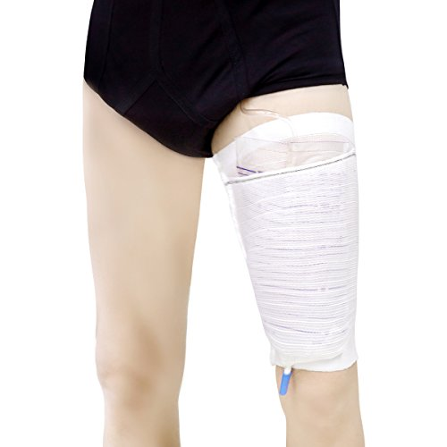Urine Leg Sleeves Urinary Drainage Catheters Bags Holders for Incontinence Supplies Strong Care Support & Fixed Provided (Pack of 1, L)