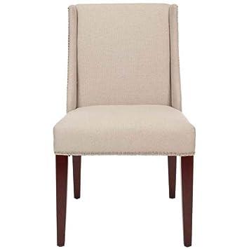 Safavieh Mercer Collection Linda Linen Side Chairs Beige Set Of 2