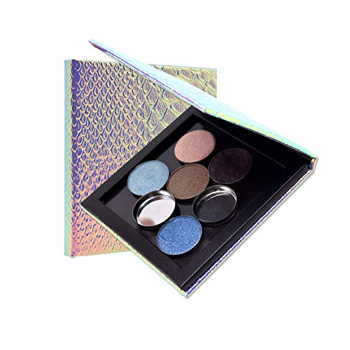 Magik Empty Mermaid Magnetic Makeup Eyeshadow Palette DIY Cosmetic Case with Free Pans (Small with 9 Pans)