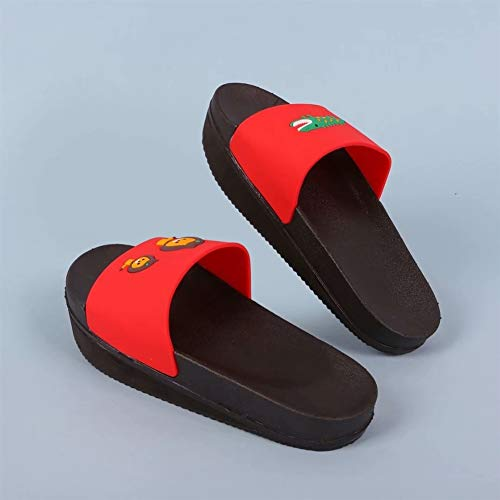 Pelvic Soles for Wedge Indoor Red Waterproof Sandal Slouching Reverse LIVEINU Slipper Posture House Unisex Tilt Correction wUBqXF7