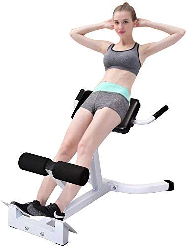 weepo Adjustable 45 Degree AB Back Abdominal Exercise Machine Roman Chair Back Hyperextension Bench Roman Chair (US Stock)