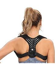 Turtleandmore Houdingcorrectie voor mannen en vrouwen, rechthouder rug, verstelbaar, verbetert de houdingverlichting, rugstabilisator, houdingstrainer (L)