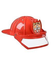Aeromax FFHAR Firefighter Helmet with Visor, Red
