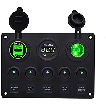 Amazon.com: WUPP Marine Boat Rocker Switch Panel 5 6 8