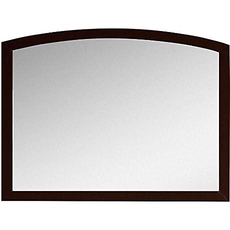 American Imaginations AI 888 18197 35 43 In W X 25 6 In H Modern Birch Veneer Wood Mirror Coffee
