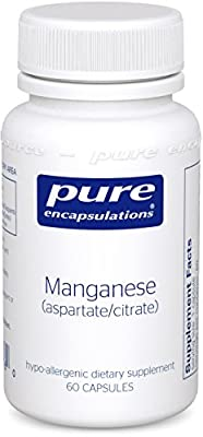 Pure Encapsulations Manganese (Aspartate/Citrate) 60 Vcaps