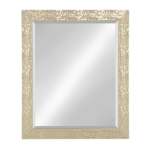 Kate and Laurel Coolidge Framed Beveled Wall Vanity Mirror, 27x33, Champagne Gold