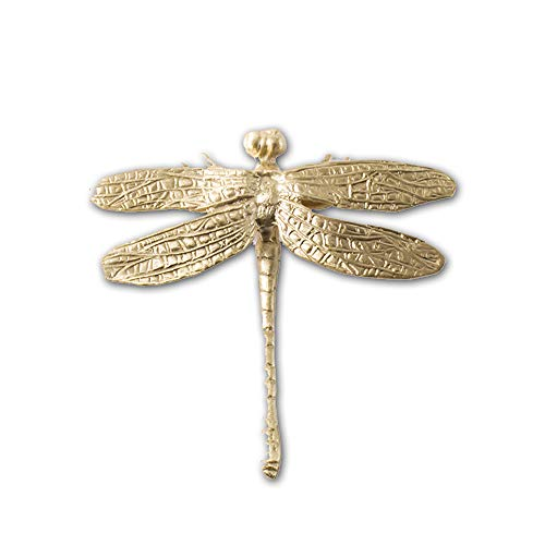 Chinese Handmade Nordic Wind Brass Hand Insect Dragonfly Hardware Hand Drawer Wardrobe Cabinet American Handle