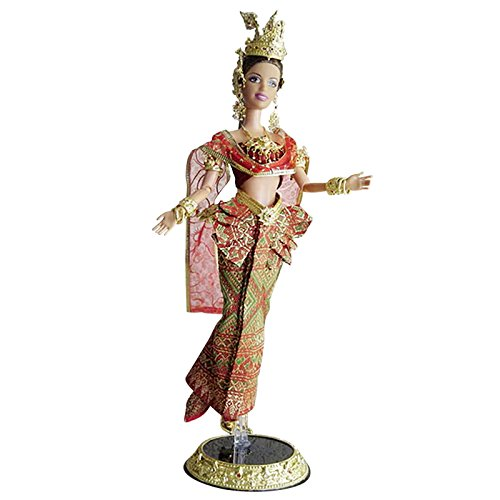 Thailand National Costume For Children (Dusadee Thai Style Barbie Doll Dress (Red&Gold) - Modern, Lanna or Chakri)