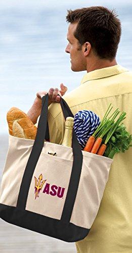 Broad Bay ASU Tote Bag or OFFICIAL Canvas Arizona State Totes by Broad Bay