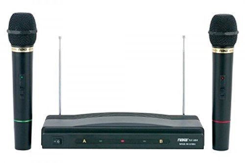 Dual Handheld Wireless Microphone Starter Kit With Fm Receiv