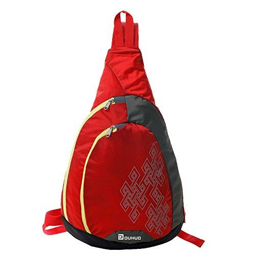 Girl Multipurpose Daypacks Triangle Pack Chest Handbag Rope Bag Duhud Bags Women Men Red For School Crossbody And Sling Rucksack Backpacks vUnPA8
