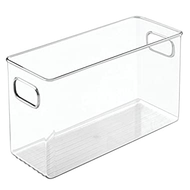 InterDesign Linus Bathroom Vanity Organizer Bin for Health and Beauty Products/Supplies, Lotion, Perfume - Medium, Clear