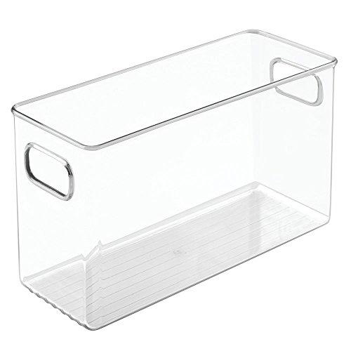InterDesign Linus Bathroom Vanity Organizer Bin – Cabinet Storage Box for Health and Beauty Products - Medium, Clear Interdesign Bathroom