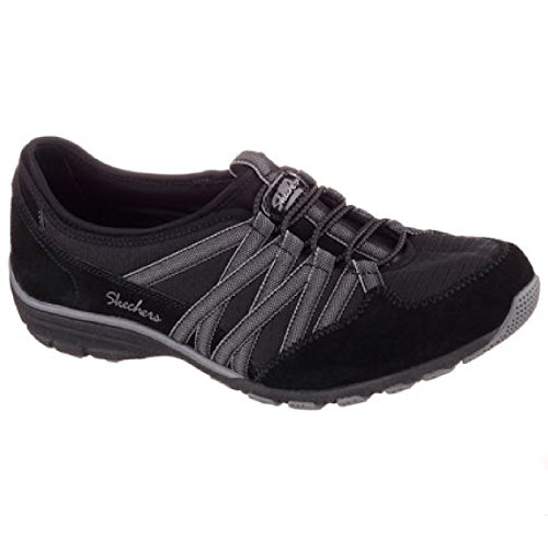 Skechers Ladies Womens Conversations Trainers Charcoal On Holding Active Black Aces Slip r4rxqB6w