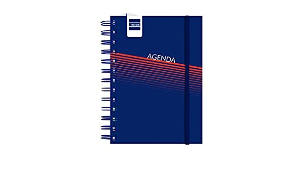 Finocam Mini-I Lisa - Agenda día/página, catalán, color azul ...