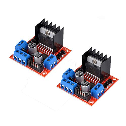 (Ivolador 2PCS L298N Motor Drive Controller Board DC Dual H-Bridge Robot Stepper Motor Control and Drives Module for Arduino Smart Car Power UNO MEGA R3 Mega2560)