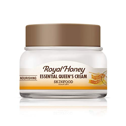 SKIN FOOD Royal Honey Essential Queen's Cream 2.1 fl.oz. (62ml) - Rich Honey Nourishing & Moisturizing Facial Cream, Royal Jelly & Propolis Extract Contained