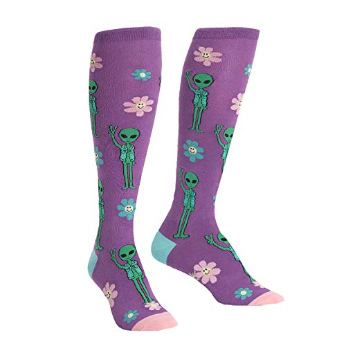 Peace Knee High Socks - Sock It To Me, Knee High Funky: Peace Out