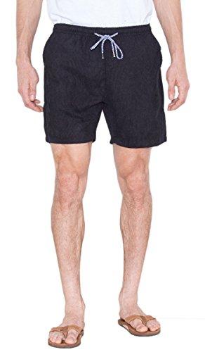 Visive Shorts For Men Elastic Waist Corduroy Drawstring Basic Essentials Short Xx Large Black