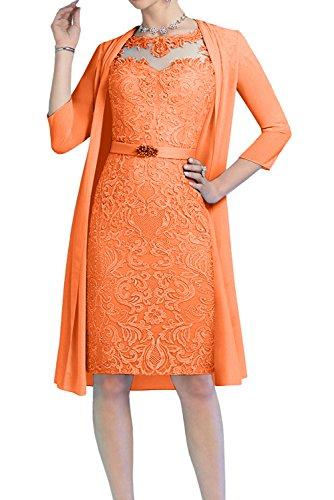 Corte A Vestido en Trapecio para Topkleider Mujer o 2 Naranja Mes wRtqxHfXT