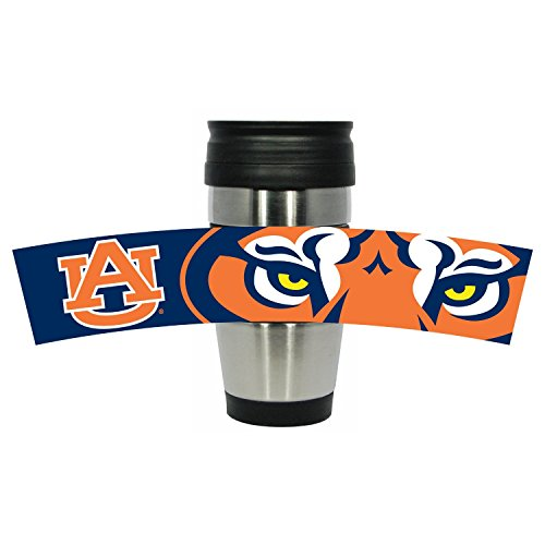 5 oz Stainless Steel Travel Mug Tumbler with Team Color PVC Wrap (Auburn Tigers Womens Stainless Steel)