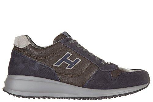 Hogan chaussures baskets sneakers homme en cuir interactive N20 h flock blu