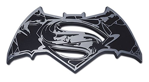 Elektroplate Superman/Batman (Distressed) Chrome Auto Emblem by Elektroplate