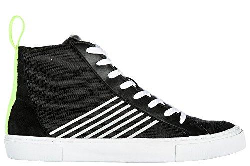 Emporio Armani EA7 Zapatos Zapatillas de Deporte Largas Hombres Nuevo Pride NEGR