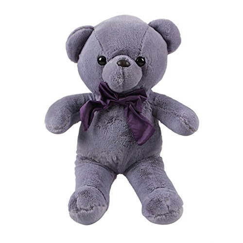 Miniso Teddy Bear Plush Toy 17 inch Teddy Bear Stuffed Animal Dolls Child Pillow Cushion, Super Soft Cuddly Figures for Kids Gift Party Favors (Purple) by Miniso