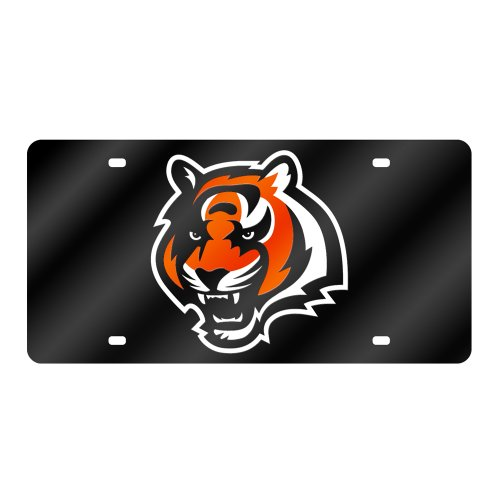 Rico Industries RIC-LZC3201 Cincinnati Bengals NFL Laser Cut License Plate (Nfl Laser Cut License Plate)