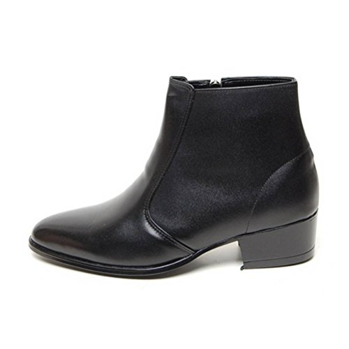 EpicStep Men's Black Genuine Cow Leather Dress Shoes Formal Casual Zipper Ankle Boots 9.5 M US by EpicStep (Image #1)