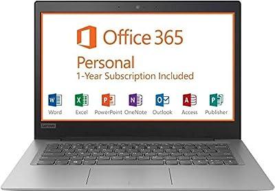 "Lenovo Ideapad 14"" HD Premium Performance Laptop, Intel Celeron Dual-Core N3350 up to 2.4GHz, 2GB RAM, 32GB eMMC, Webcam, HDMI, 802.11ac, Bluetooth, Windows 10, Office 365 1-Year Personal Subscription"