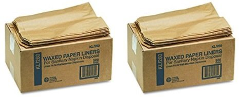 "Waxed Kraft Liners (Hospeco KL Waxed Kraft Feminine Hygiene Liner Bag with Gusset (2 Cases of 500), 10.25"" x 7.5"" x 3.5"")"