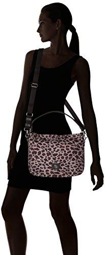 Bogner Lea-Small Aisha - Borse a spalla Donna,Multicolore (Leopard/slate), 9x26x33 cm (B x H T)