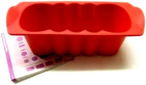 1 A Tupper molde silicona pequeñas Buzón onda 0,5L – -- rojo ...