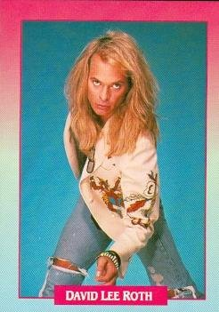 (David Lee Roth trading Card (Van Halen) 1991 Brockum Rockcards #248)
