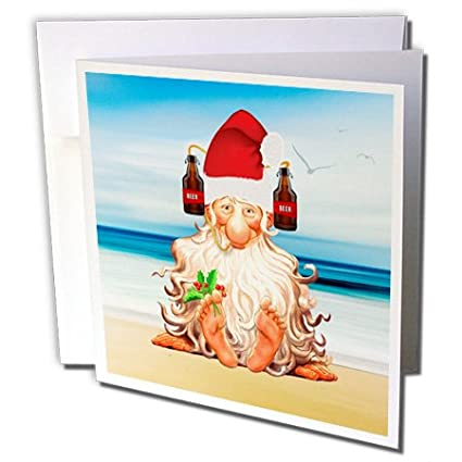 doreen erhardt christmas collection funny beer lovers beach themed christmas with gnome in a drink