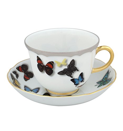 VISTA ALEGRE - Butterfly Parade by Christian Lacroix (Ref # 21117741) Porcelain Tea Cup & Saucer by Unknown