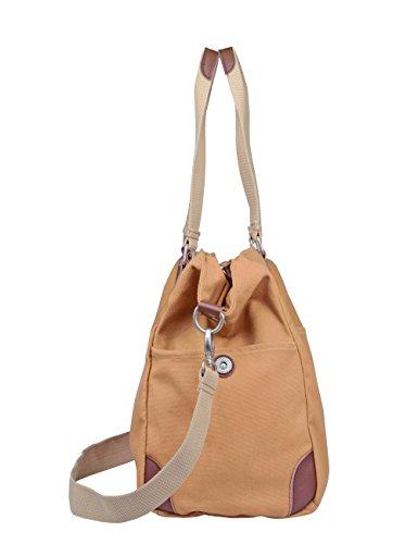 Douguyan Moda Bolsas de viaje de lona para Mujeres Hombre Bolsas de Ocio Moda 1413 Amarillo Amarillo