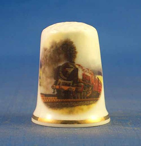 Birchcroft porcellana cinese collezione ditale vintage treno a vapore Birchcroft China