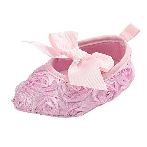 Girls Floral Bowknot Princess Prewalker
