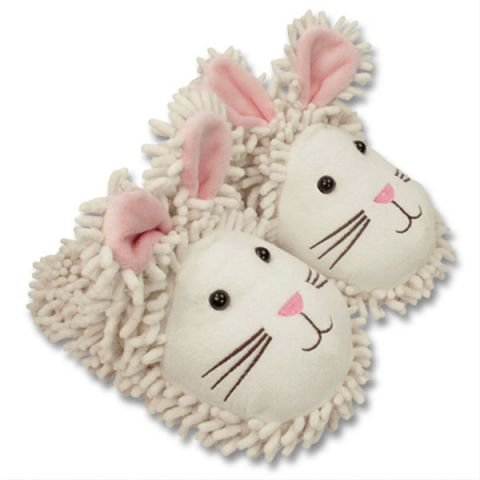 Aroma Home Adult Bunny Rabbit Fuzzy Friends Warm Slippers
