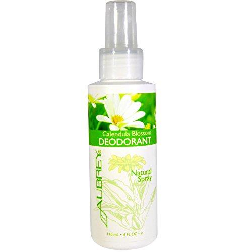 Aubrey Organics, Calendula Blossom Deodorant, Natural Spray, 4 fl oz (118 ml) - 3PC