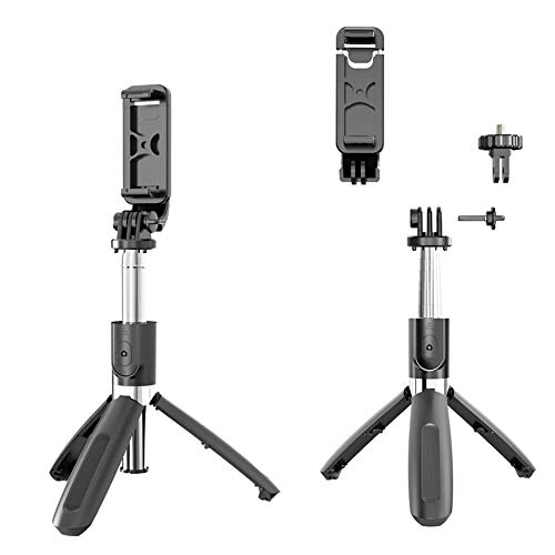 US1984 1288 Monopod For Camera and Smartphones with Bluetooth Remote Combo, Black